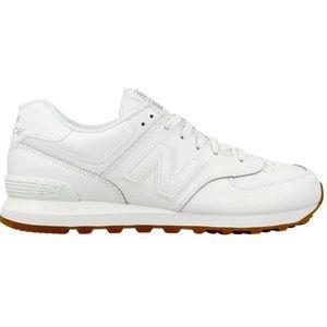 new balance 574 mens white leather